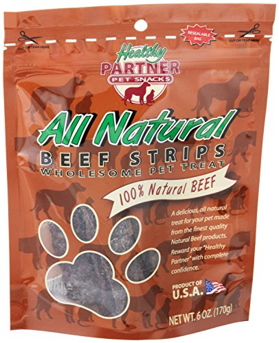 Healthy Dog ALL NATURAL BEEF JERKY 6 oz MADE IN USA (2 BAGS)
