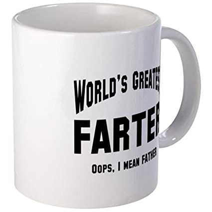 c5e06e73 Amazon.com | CafePress - World's Greatest Farter Father Mug - Unique ...