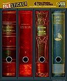 File Sticker–Design Etichette–Motiv Books–per 4completamente raccoglitore ad anelli