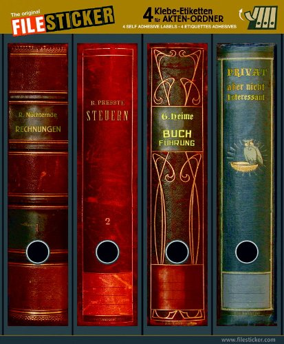 File pegatinas - diseño etiquetas - diseño de libros - para 4 de lomo ancho