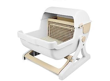DAN Cat Litter Box Senior De Lujo Y Lujo De Semi-Automático Pet Gato WC: Amazon.es: Deportes y aire libre