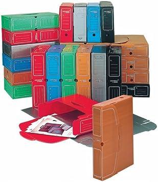 Caja archivo definitivo PP Carchivo folio 100mm azul: Amazon.es: Electrónica