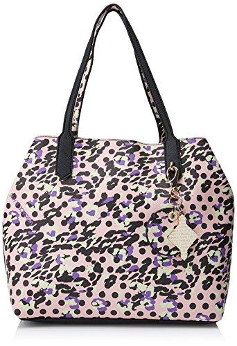 d1601e428a Versace Jeans Ee1vrbbsb E70039, Borsa a Secchiello Donna, Multicolore (Nero /Rosa)