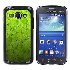 Be Good Phone Accessory // Dura Cáscara cubierta Protectora Caso Carcasa Funda de Protección para Samsung Galaxy Ace 3 GT-S7270 GT-S7275 GT-S7272 // Green Sun Nature Biology Macrosco
