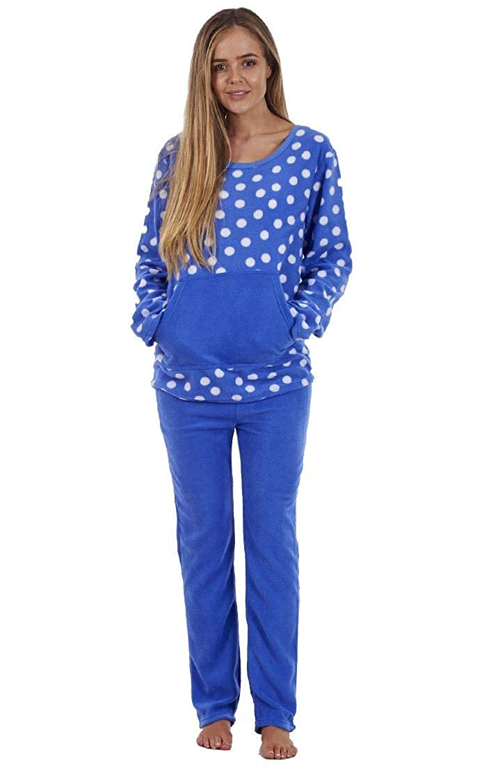 b588e7350e Ladies Stunning Printed Fleece Pyjama Set Womens PJ s Winter Warm Nightwear  Anna Klein