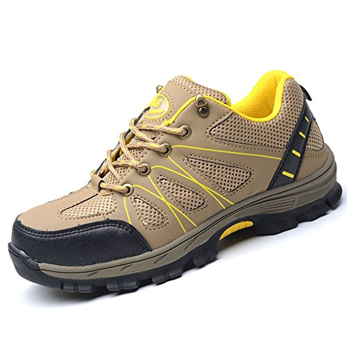 Eclimb Women's Steel Toe Safety Work Shoes Slip Resistant Protect Shoes by Eclimb