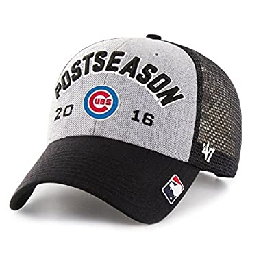 Chicago Cubs Hat 2016 NL Central Division Champions Locker Room Adjustable Hat - Gray/Black