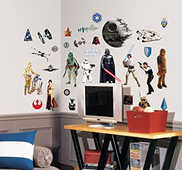 Star Wars Classic Wall Stickers Decals Pieces Amazoncouk - Star wars wall decals uk