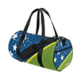 Distressed Solomon Islands Flag Travel Duffel Shoulder Bag ,Sports Gym Fitness Bags