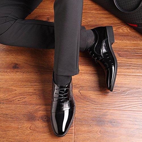 Oxford E Derby Classiche Scarpe Classiche Uomo da con da Uomo da Uomo Stringate in da A Black Casual Punta Pizzo Scarpe Cerimonia azYqwxRx
