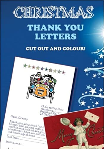 Amazon christmas thank you letters cut out and colour amazon christmas thank you letters cut out and colour 9781540504197 hugh morrison books spiritdancerdesigns Image collections