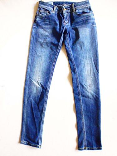 Dondup Lambda Damen Jeans, Blau Wasch Baumwollemischung Damen Jeanhose Große; 29