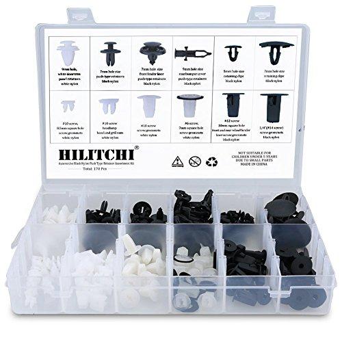 Hilitchi 170pcs Toyota and Lexus Fender Door Hood Bumper Trim Clip Body Retainer Assortment Kit (170 Pcs)