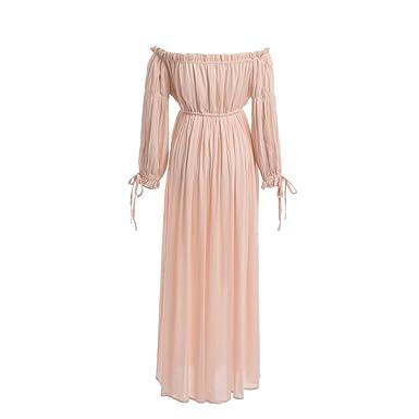 ce1012402c29d BLESSUME Renaissance Retro Summer Dress Off Shoulder 3/4 Sleeve ...