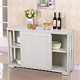 Storage Cabinet Sideboard Buffet Cupboard Wood Sliding Door Pantry Kitchen New