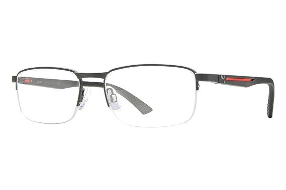 Amazon.com: Puma PU0020O Mens Eyeglass Frames - Matte Black/Red ...