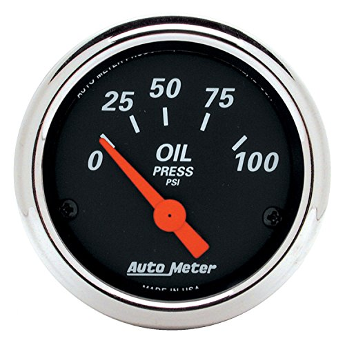 Auto Meter 1426 Designer Black Oil Pressure Gauge