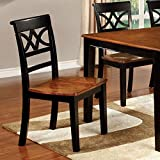 247SHOPATHOME IDF-3552BC-SC Dining-Chairs, Black and Cherry
