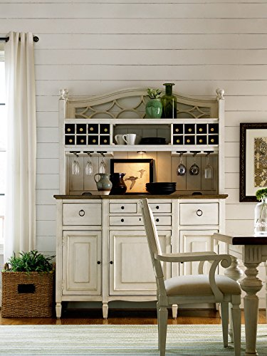 Universal Furniture 987670C Summer Hill Collection Buffet with Complete Bar Hutch, Cotton (And Bar Hutch)
