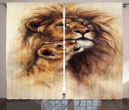 Ambesonne Safari Curtain