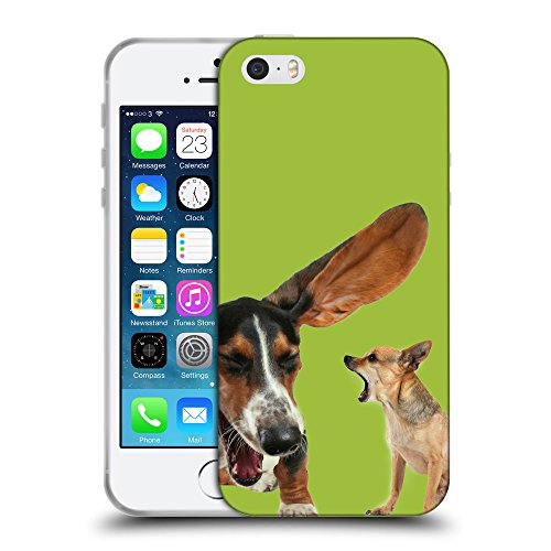 GoGoMobile Coque de Protection TPU Silicone Case pour // Q05600603 Basset chihuahua verde Android // Apple iPhone 5 5S 5G SE
