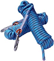 Rock Climbing Rope, 12mm Diameter Outdoor Hiking Accessories High Strength Cord Safety Rope(10m,32ft)(20m,64ft