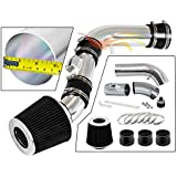 Rtunes Racing Short Ram Air Intake Kit Filter Combo BLACK Compatible For 08-12 Colorado 2.9L L4//3.7L L5 /…