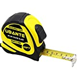 UBANTE Measuring Tape Measure 1-Inch x 25FT(7.5m) Retractable Heavy Duty with Magnetic Hook, Metric and Inches Measurement - Professional Measurement Tape for Construction, Contractor and DIY-Yellow
