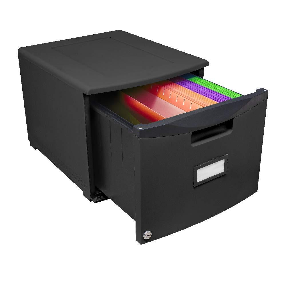 File Drawer Single Modern Folder Locking Filing Plastic Office Organizer Furniture & Ebook by AllTim3Shopping