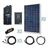 RENOGY® 3600W Polycrystalline Cabin Solar Kit: 12 300W Poly Solar Panels + 1 Midnite MPPT Controller