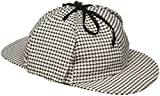 Jacobson Hat Company Men's Sherlock Holmes Cotton Cap, Black/White, Adult