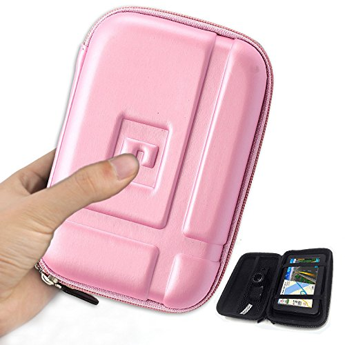 Hard Carrying Case Waterproof Shockproof EVA Case Travel Protective Bag Storage Shell  for Car Gps Navigation Navigator and accessories Garmin Nuvi TomTom Magellan with 4 - 5 inch Display 1490t Portable Gps