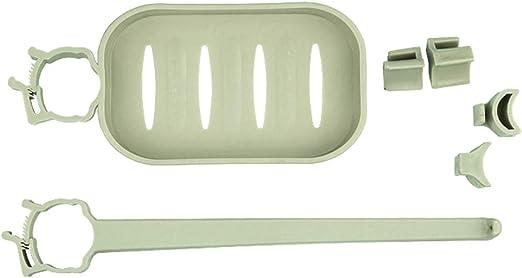 Soporte para toallas organizador de jab/ón para uso en cocina o ba/ño Off White estante de drenaje soporte para esponja