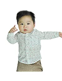 Iceybaby premature newborn baby boy and girl cotton long-sleeved shirt thin