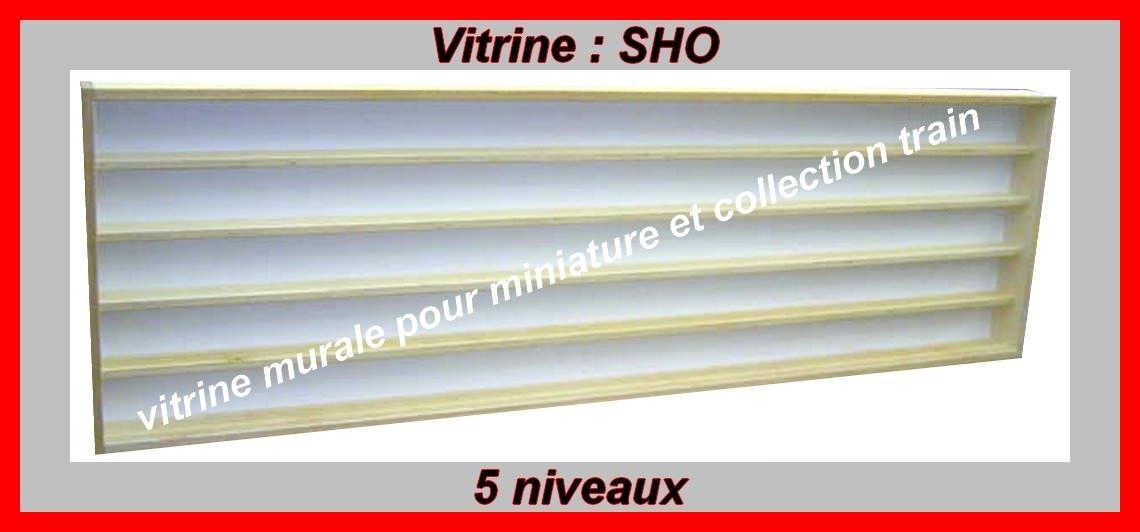 Bmd - Vitrine murale SHO-057 largeur 150cm_5 niveaux pour trains échelle HO