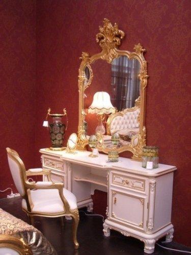 LouisXV Barocco Toeletta comò specchiera camera da letto antico ...