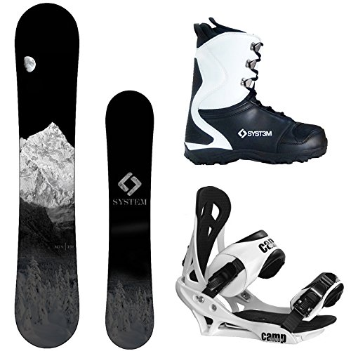 System 2018 MTN and Summit Complete Mens Snowboard Package