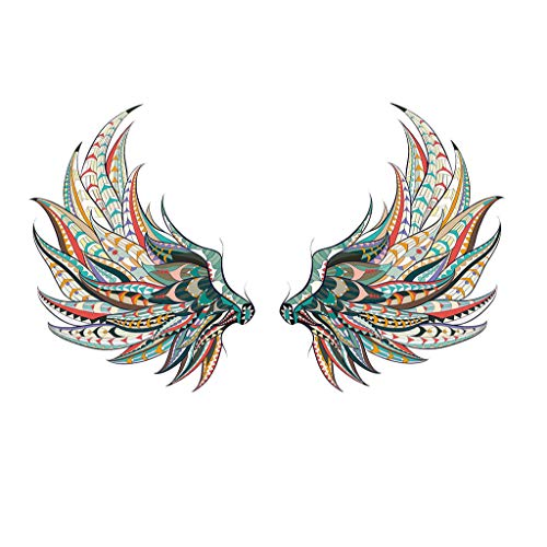 uaswguDFS Feather Wings Wall Sticker - Removable Mural, Vinyl Decal Art Sticker, Decor for Kids Bedroom or Birthday Gift, Beautiful Wall Decals for Any Room School