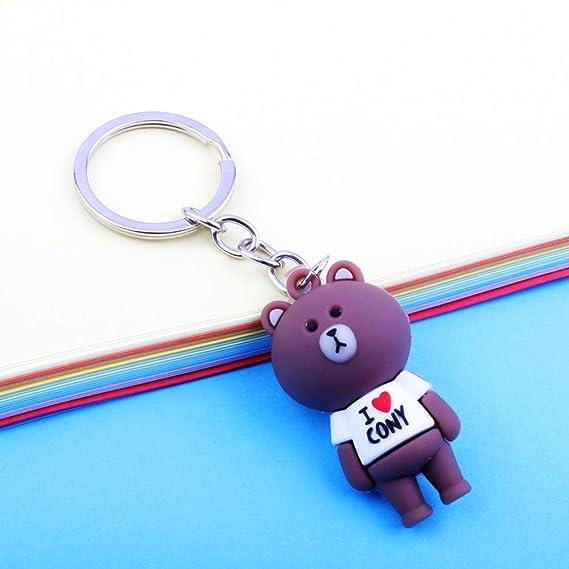 Amazon.com: NN-BH - Llavero con colgante de oso de silicona ...