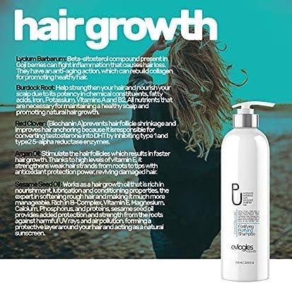Hair Growth Shampoo for Thinning Hair and Hair Loss, Natural Regrowth & Detox Treatment for Women and Men - Biotin, Tea Tree Oil, Moroccan Argan Oil and Vitamins, Hair Surge Formula 23.6oz