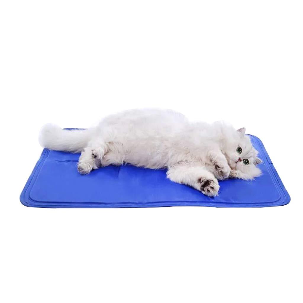 S GWM Kennels Dog Pet Cooling Mat,Cooler Cushion bluee Gel Mat Bed Pad Comfort Dog Pet Cooler Mats for Summer (Size   S)