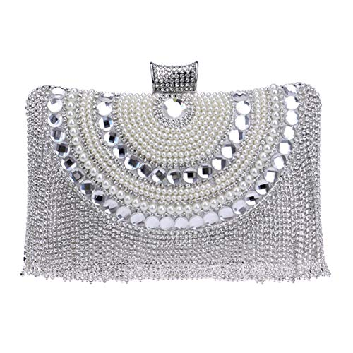 Purse Evening Silver Handbag Chain Fringe Womens Bags Wedding Dress For Clutch 7wqp6