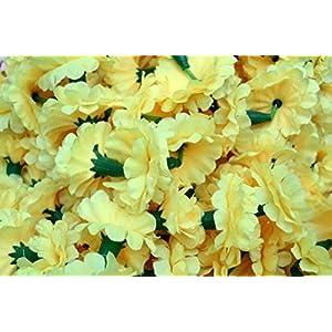Buycrafty 5 Feet Long Strands Marigold Garlands, Flower Garland, Indian Wedding Flowers, Diwali Marigold, Set of 5, Party Decor, Wedding, Deepavali 5