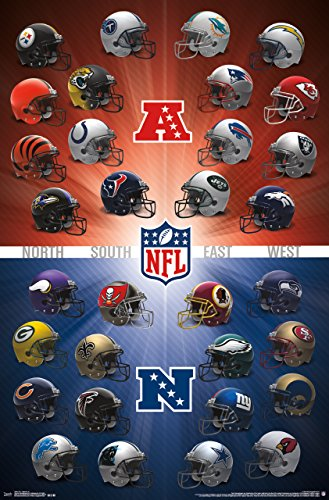 NFL Helmets 2016 Wall Poster product image
