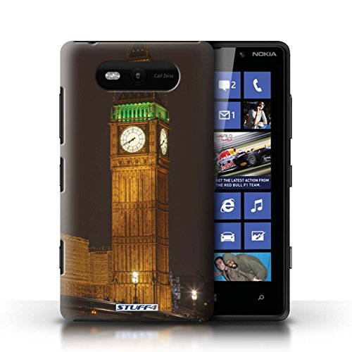 Etui / Coque pour Nokia Lumia 820 / Big Ben conception / Collection de Londres Angleterre
