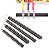 Wall Mount Magnetic Knife Storage Holder Rack Strip Utensil Kitchen Black Gift
