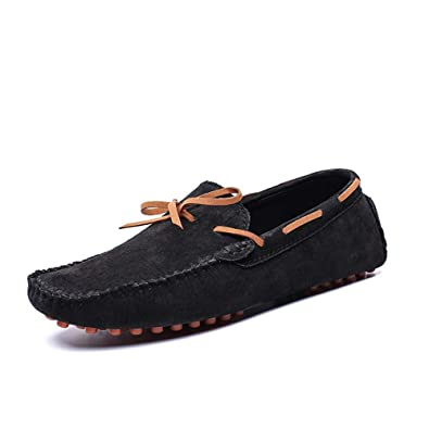 Mens Shoes Mens Fashion Driving Loafers Casual Personality Splicing Side Elastic Belt Lightweight Simple Boat Moccasins Fashion