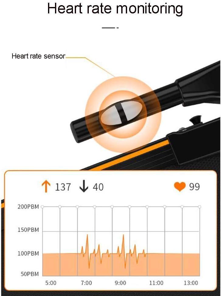 Digital Control 0.75Ph Motor Up To 6Km H,Black Treadmill Machine For Home,Motorised Electric Treadmill Folding Running Machine Quiet Shock Absorption Wireless Intelligent Remote Control Start
