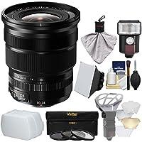 Fujifilm 10-24mm f/4.0 XF R OIS Zoom Lens with Flash + Soft Box + 2 Diffusers + 3 Filters Kit for X-A2, X-E2, X-E2s, X-M1, X-T1, X-T10, X-Pro2 Cameras