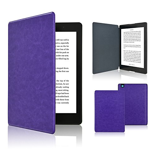 ACdream Kobo Aura One Case, The thinnest and Lightest Slim Shell Leather Smart Case for Kobo Aura One (2016 Version) with auto wake sleep feature,